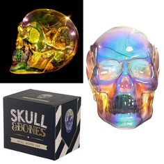 Decorative LED Light - Metallic Iridescent Skull  Add colour and style to your home with our range of LED lights.  Complete with LED lights that require 3 LR44 button batteries (included), these decorations are perfect for adding that magical touch to your home, garden or special event.