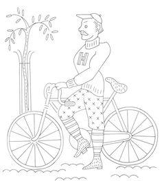 vintage man on bike