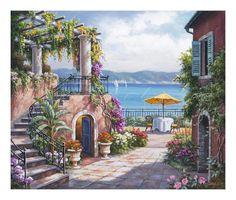 Sung Kim - Tuscan Terrace - Sanatsal Reprodüksiyonlar - AllPosters.com.tr'de.