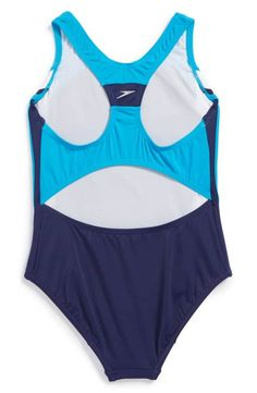 17495999350d0 Speedo®  Infinity Splice  One-Piece Swimsuit (Big Girls)
