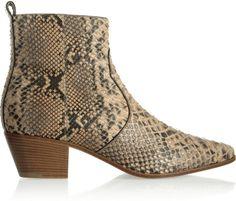 Saint Laurent Python Ankle Boots - Lyst #NaturalBeauty #NaturalzBiz #NeoNaturalz