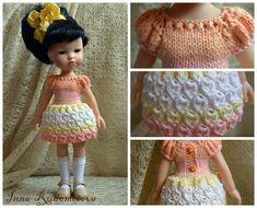 Платье «Капелька» для кукол типа Paola Reina 33 см Автор: Инна Рудометова - https://vk.com/wall-116031790_1363