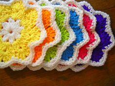 Como Hacer Flores De Crochet | ... Hiyoko ~ pollo morado (Patrón para hacer estos coloridos posavasos