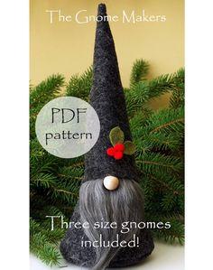 CHRISTMAS Gnome PDF Pattern 3 Sizes Digital Pattern Easter | Etsy