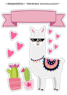 Musings of an Average Mom: llama birthday printables Printable Stickers, Printable Planner, Party Printables, Planner Stickers, Free Printables, Alpacas, Cactus, Llama Birthday, Birthday Cake