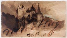 Victor Hugo, Château-fort au crépuscule.