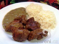 Jednoduchá a rychlá úprava kuřecích jater, která překvapí. Mashed Potatoes, Grains, Beef, Chicken, Ethnic Recipes, Cooking, Whipped Potatoes, Meat, Smash Potatoes