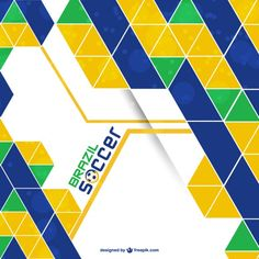 Abstract Brazil vector background Free Vector
