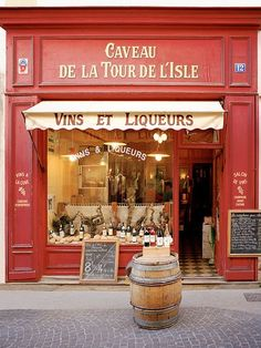 European photo of wine store in LIsle Sur la Sorgue in Provence France by Dennis Barloga Photos of Europe Fine Art Photographs by Dennis Barloga Provence France, Paris France, France Europe, France Travel, Portal, Shop Facade, Enchanted Home, Shop Around, Shop Fronts