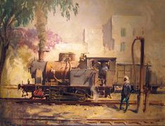 Terence Cuneo original signed Railway paintings and drawings - Robert Perera Fine Art Gallery of Lymington Train Art, Railway Posters, Steam Locomotive, Fine Art Gallery, Painting & Drawing, Watercolor, Drawings, Artist, Vintage Trains