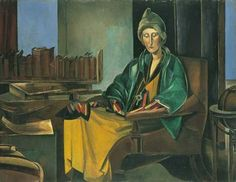 """Portrait of Edith Sitwell"" (1923-1935). Wyndham Lewis (1882-1957) was a prodigiously talented Modernist painter, novelist, polemicist and art critic of the first half of the 20th century. His portraits are some of his greatest works. He painted his eminent literary contemporaries - Naomi Mitchison, T S. Eliot, Stephen Spender and Ezra Pound - with a cold and merciless eye. The painter Walter Sickert once described him as the greatest portraitist of this or any other generation. [Michael…"