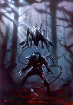 Alien attacks Predator...