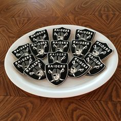 Raiders sugar cookies!