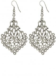 Filagree Crystal Embellished Earrings | Calypso St. Barth