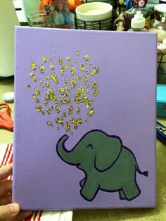 30 Minute Elephant Canvas