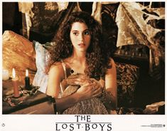 "Vampireses -- Jami Gertz is said to have only been one-half vampire in ""The Lost Boys"" We suppose that means she's less worthy of our worship. Lost Boys Movie, The Lost Boys 1987, Mazzy Star, Female Vampire, Never Grow Old, Film Inspiration, Scary Movies, Film Stills, Beautiful Actresses"