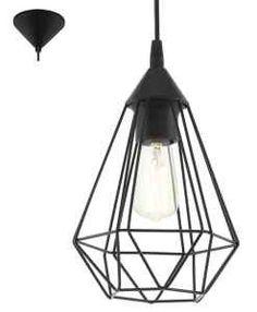 Lampa wisząca druciana Eglo Vintage Tarbes 60W czarna E27 industrial 94187 - wysyłka w 24h