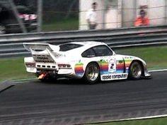Apple branded Porsche 935 Turbo K3 Acceleration SOUND + Flames