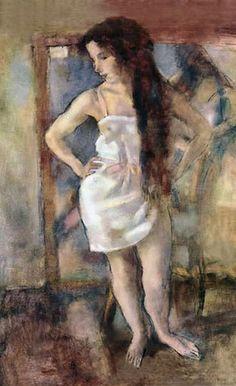 Pintura sensual por Jules Pascin, modernismo en acuarela.