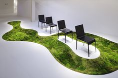 Time of moss in Shanghai AMKK is a company developing the experimental creation by Makoto Azuma, a flower artsit, whose subject is flowers and plants. The activities of AMKK aim to increase the existential value of plants by finding out the most mysterious figure only owned by flowers and plants and converting it to the artistic expression.