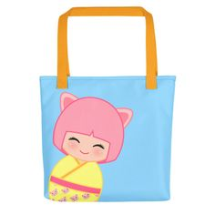 Look cute while grocery shopping with one of our tote bags!!! Chinese Horoscope Pig Kokeshi - Tote bag