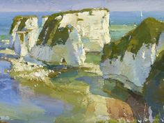 (24) Old Harry Rocks to the Isle of Wight - Oliver Akers Douglas, 16th Nov - 2nd Dec, Portland Gallery