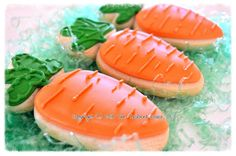 Carrot Easter Shortbread Sugar Cookie Favors by TheTailoredCookie, $36.00