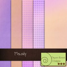 Melody  - Free Digital Papers from Paper Street Designs