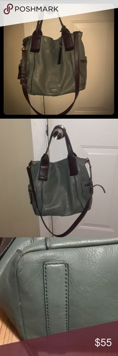 Gorgeous Fossil Emerson Satchel Good used condition. Been my only purse for 10 months so it does have somewhere on it as shown in the pictures. Inside looks great just still have my stuff in it,will try take more pictures when I get my stuff out today. Fossil Bags Satchels