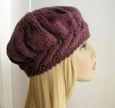 Weekend Cable Beret | Craftsy