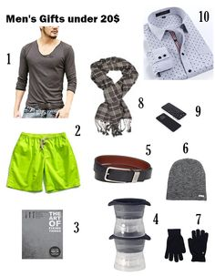 MY  LOVELY   FASHION: Men's Gifts under 20$