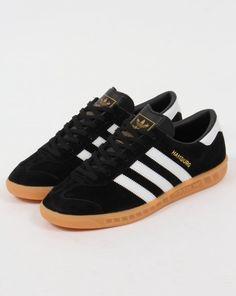 1819f86bb4fc Adidas Hamburg Trainers Black White Gum