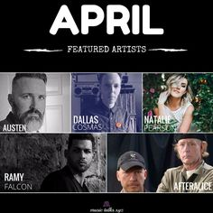 April Featured artists are now up! @PrototypeMusiq @TheAustenEx @NatPearsonMusic @afteraliceband @FalconRamy www.musictalks.xyz