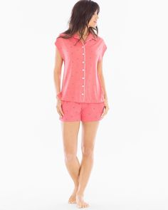 Comfortable sleep is a breeze in an updated notch collar pajama top in customer favorite Cool Nights fabric and relaxed fit. Super soft knit for comfort and drape, designed to fit every body. Cool Nights breathable fabric keeps you cool and dry and retains its shape and silky drape, even after countless washings.