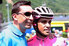 GIRO 2015. Alberto Contador recibió la visita del colombiano Juan Mauricio Soler en Suiza.