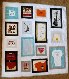 create: baby keepsake quilt inspiration! love how organized it is!!!