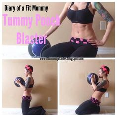 """Blast Your Tummy Pouch In One Simple Move. The tummy pouch is caused by under-worked lower abdominal muscles-and this tends to store fat right there! Having a baby does not make it any easier! Here's my favorite move to help blast your """"pooch"""" to nonexistence! This workout will tap into your deep abdominal core layers that pulls your waistline in like a corset. Perform 3 sets of 12 reps daily."""