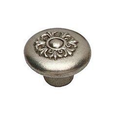 Premier Hardware Designs Flower Patch Victorian Fleur Mushroom Knob Finish: Satin Nickel