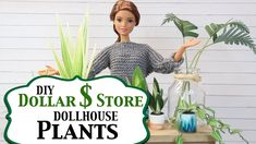 DIY- How to make: Dollar Store Dollhouse Plants - Barbie Plants - Miniat... Barbie Doll Accessories, Diy Dollhouse, Dollar Stores, Barbie Dolls, Birthday Gifts, The Creator, Miniatures, Plants, How To Make
