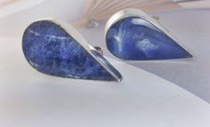 Like raindrops on the ears - blue Mexican silver statement earrings. A personal favorite from my Etsy shop https://www.etsy.com/listing/268519113/sale-vintage-taxco-mexican-silver-blue