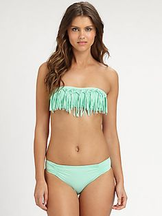 L*Space Dolly Knotted-Fringe Bandeau Top