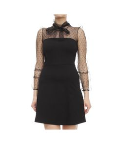 Red valentino white point d esprit top dress