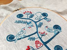feeling stitchy: Patterns: Aotearoa Tree of Life Felt Embroidery, Types Of Embroidery, Cross Stitch Embroidery, Embroidery Patterns, Cross Stitch Patterns, Christmas Mom, Crafty Craft, Crafting, Tree Of Life