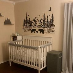 Dandelion Wall Mural Wallpaper Wall coverings Black and Baby Room Themes, Baby Boy Rooms, Baby Bedroom, Tree Wallpaper Nursery, Wall Wallpaper, Nursery Wall Decals, Wall Murals, Bear Nursery, Wall Sticker