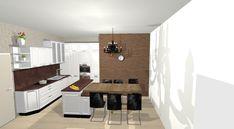 Vizualizácie   Kuchyne a kuchynské štúdiá DOMOSS Kitchen Island, Home Decor, Island Kitchen, Decoration Home, Room Decor, Interior Design, Home Interiors, Interior Decorating