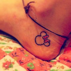 Minnie Mouse tattoo! Who doesn't love a red polka dot bow? :)
