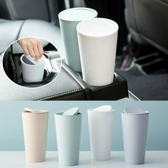 Trash Can For Car, Trash Bins, Cute Car Accessories, Travel Accessories, Car Storage Box, Garbage Can, New Things To Learn, House Rooms, Products
