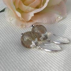 Ohrhänger Rauchquarz - Silber 925 Gemstone Beads, Ear Jewelry, Rhinestones, Nice Asses