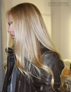 Hair Color by Johnny Ramirez • 310.724.8167 • info@ramireztran.com…