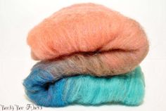Spinning wool  Gradient Wool Batt  Felting  Merino  by beesybee, $14.35